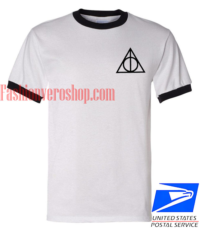 Unisex ringer tshirt Harry Potter Deathly Hallows