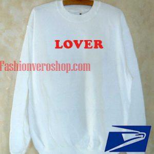Lover White Sweatshirt