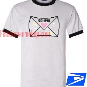 Unisex ringer tshirt - Notice Me Senpai