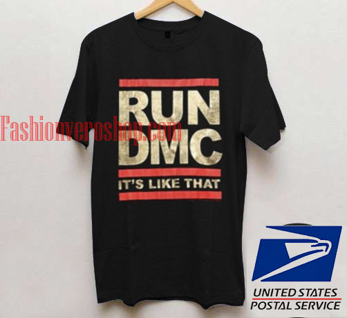 run dmc it 39 s like that t shirt unisex adult mens t shirt. Black Bedroom Furniture Sets. Home Design Ideas
