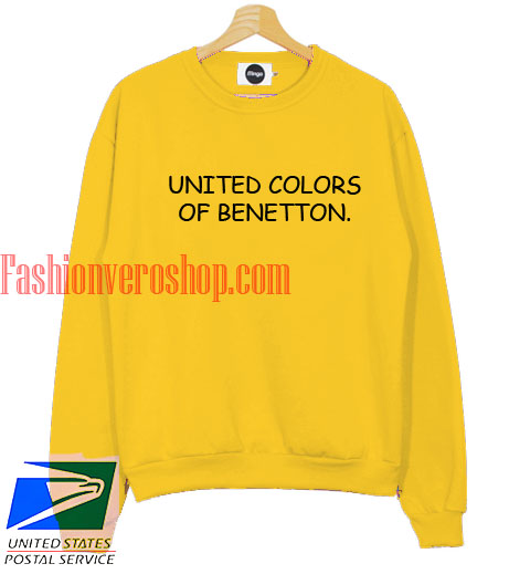 United colors of benetton sweatshirt for Benetton we are colors