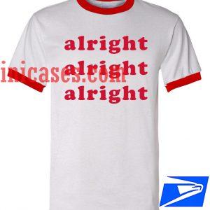 Unisex ringer tshirt - alright alright alright