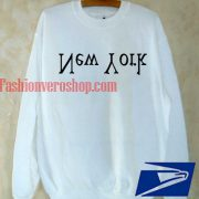 upside down new york Sweatshirt