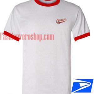 Unisex ringer tshirt - Classic Logo