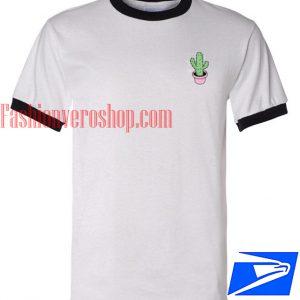 Unisex ringer tshirt - Mini Cactus