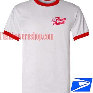Unisex ringer tshirt - Pizza Planet