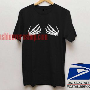 Skeleton hand T shirt