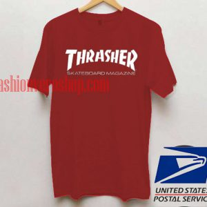 Thrasher Skateboard Magazine Maroon T shirt