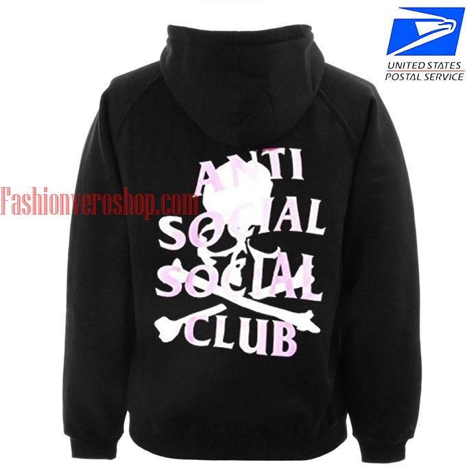anti social skull HOODIE