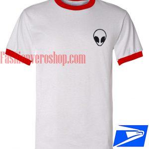 Unisex ringer tshirt - Alien funny