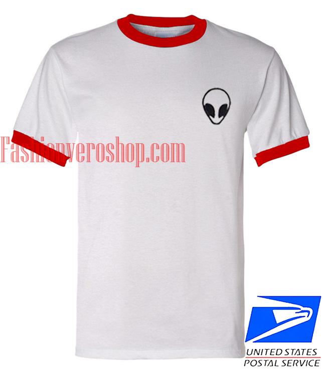 Unisex ringer tshirt Alien funny