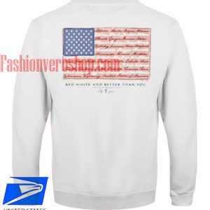 American Flag Back Print Sweatshirt