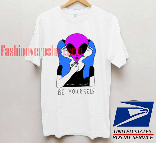 Be yourself alien t shirt men and t shirt women by fashionveroshop