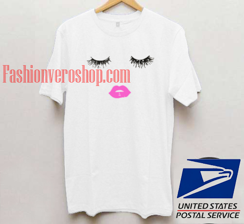 Eyelashes and Lips T shirt