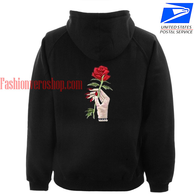 Flower rose hand HOODIE - Unisex Adult Clothing