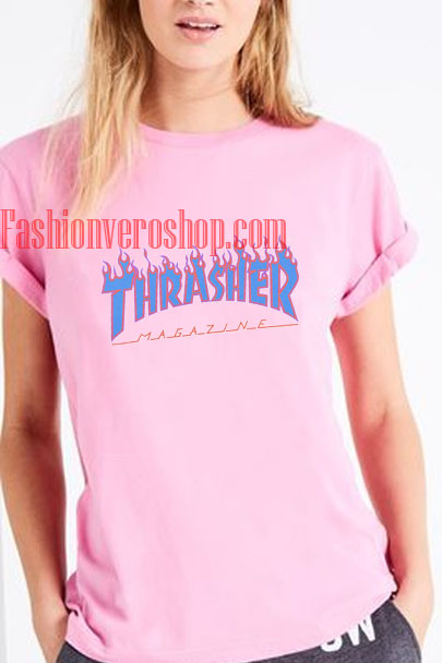 thrasher pink shirt