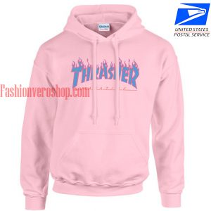 thrasher blue flame HOODIE - Unisex Adult Clothing