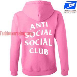 Anti social social club pink HOODIE - Unisex Adult Clothing