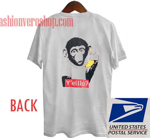Monkey With Banana Unisex adult T shirt