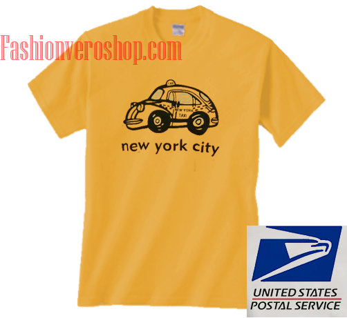 New york city taxy gold yellow unisex adult t shirt for New york city tee shirts
