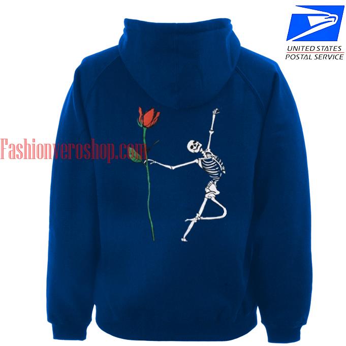 Skeleton Rose HOODIE - Unisex Adult Clothing