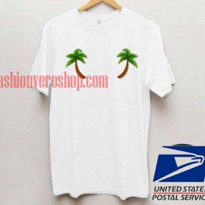 Twin Palm Tree Unisex adult T shirt