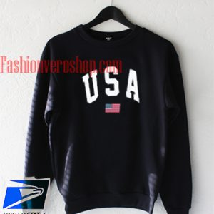 USA flag black Sweatshirt