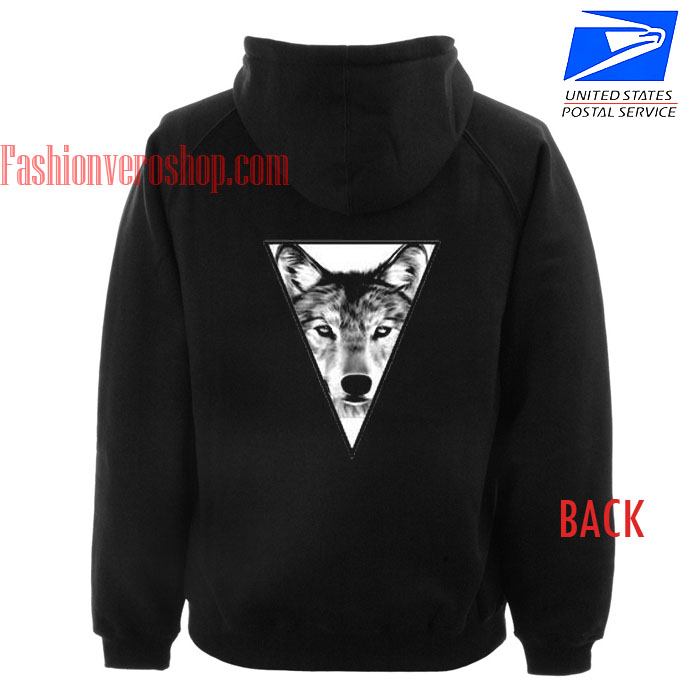 wolf triangle back HOODIE - Unisex Adult Clothing