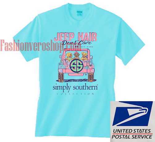294595a09a3 Jeep Hair Don t Care Simply Southern Unisex adult T shirt