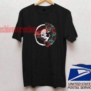 Skull Floral Rock Unisex adult T shirt