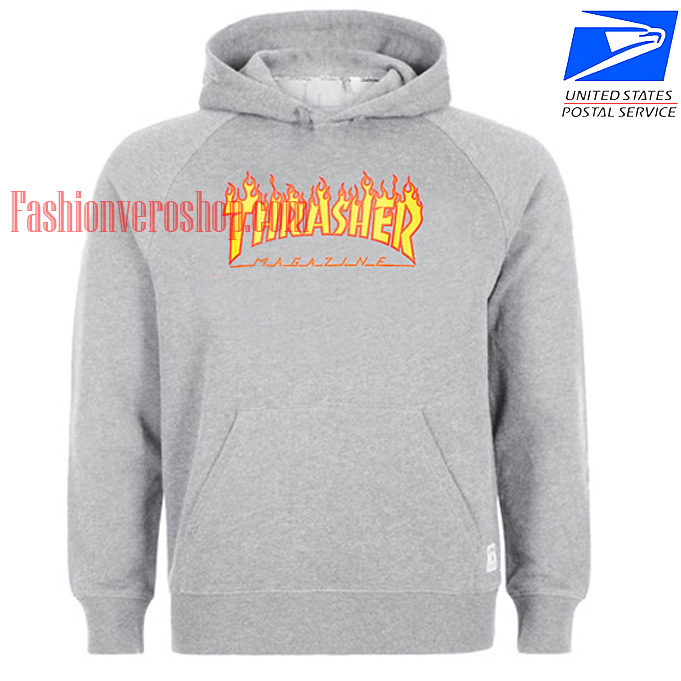 Thrasher Grey HOODIE - Unisex Adult Clothing