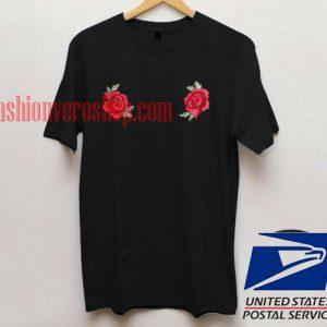 Twin Rose Unisex adult T shirt