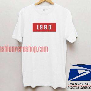 1980 Unisex adult T shirt