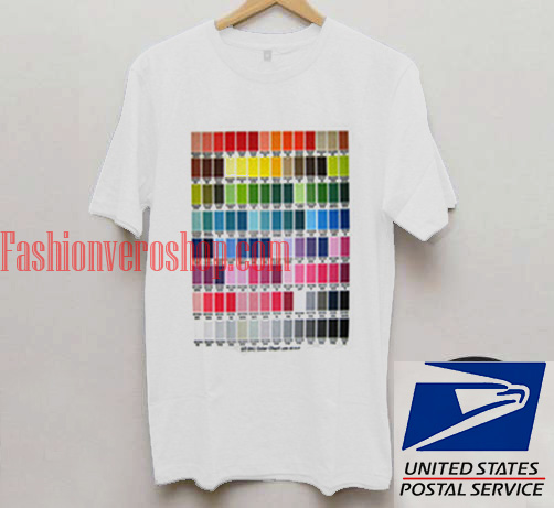 Gt 541 Color Chart Unisex Adult T Shirt