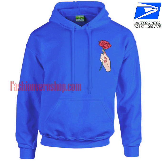 Hand Holding Rose HOODIE Unisex Adult Clothing