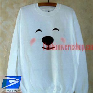 Polar Bear Face Sweatshirt