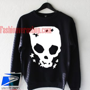 Skull Stretch Pullover Sweatshirt