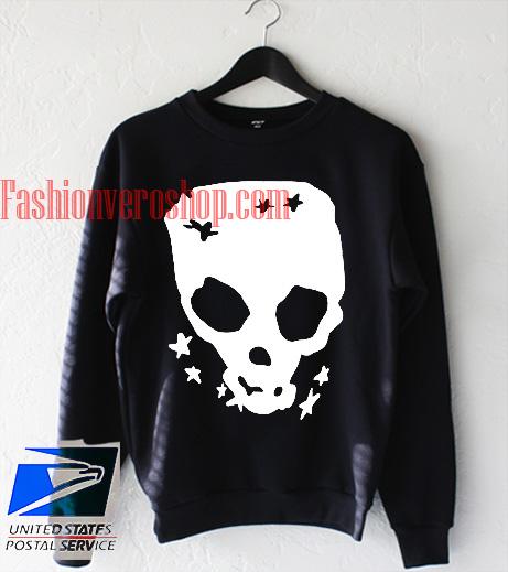 Skull Stretch Pullover Sweatshirt