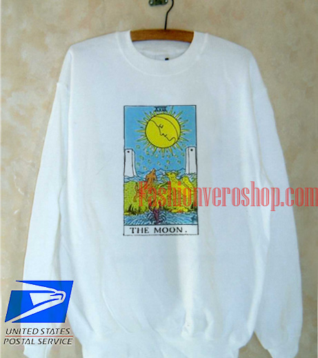 The Moon Tarot Card Sweatshirt