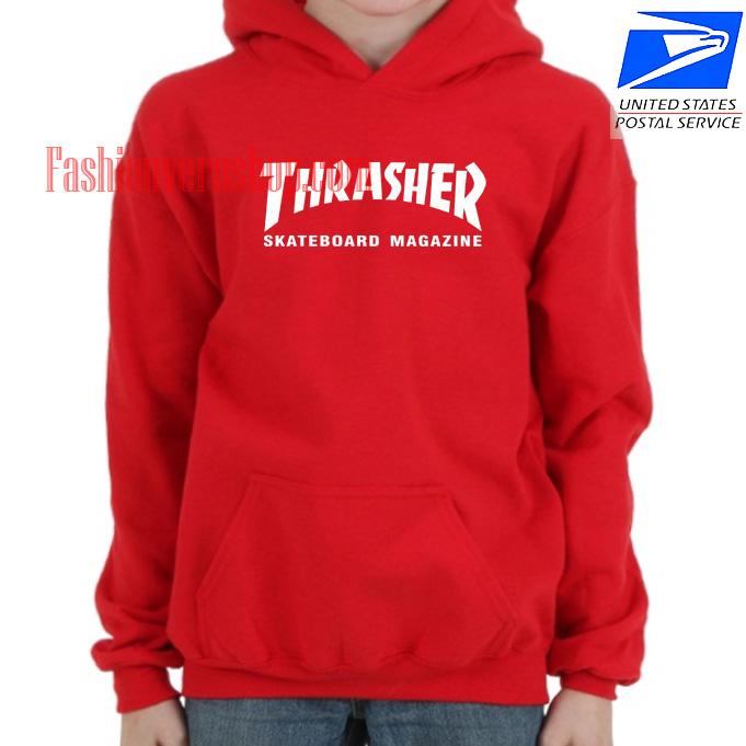 Thrasher Skateboard Magazine Red HOODIE - Unisex Adult Clothing