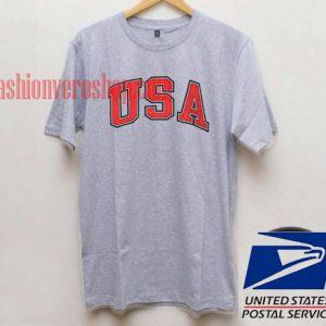 USA Grey Unisex adult T shirt