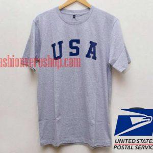 USA Letter Navy Unisex adult T shirt