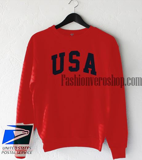 USA Red Sweatshirt