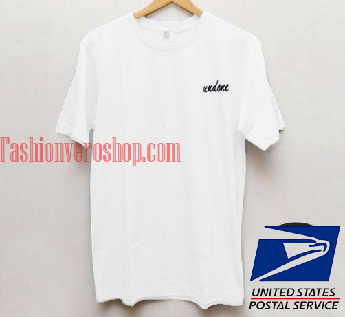 Undone Unisex adult T shirt