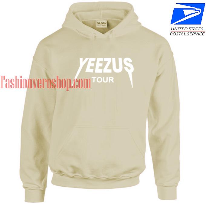 Yeezus Tour Light Brown HOODIE - Unisex Adult Clothing