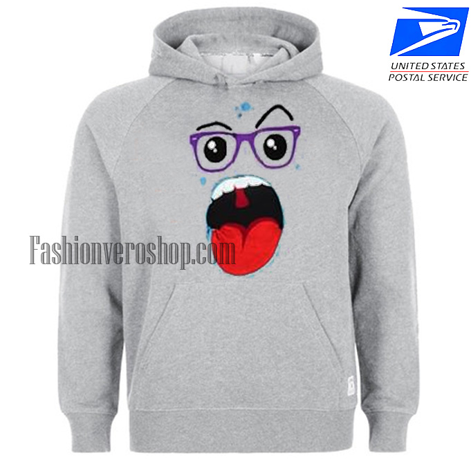 Zipper Mouth Monster HOODIE - Unisex Adult Clothing