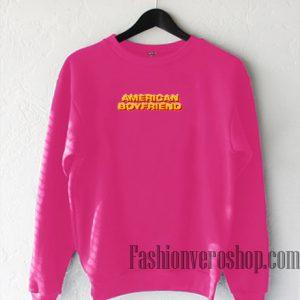 American Boyfriend Hot Pink Sweatshirt