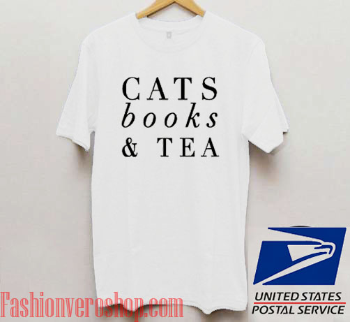 f1d19ca05 Cats Books And Tea Unisex adult T shirt