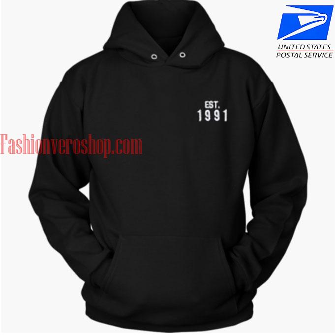 Est 1991 black HOODIE - Unisex Adult Clothing