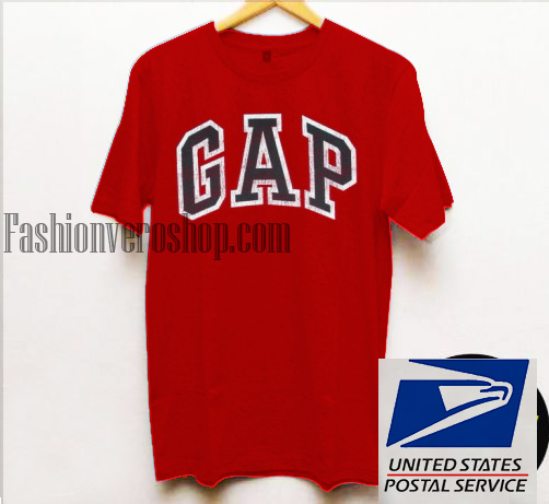 Gap red unisex adult t shirt for Gap usa t shirt